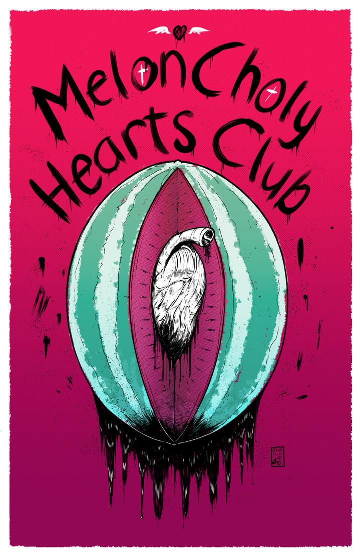 MelonCholy Hearts Club print by EzJedi