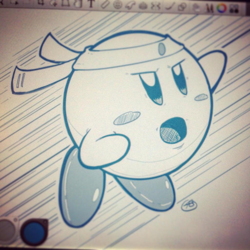Kirby sketch by EzJedi