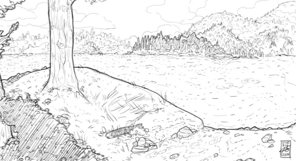Algonquin Sketch by EzJedi