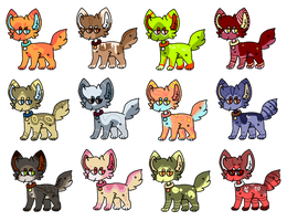 25 point dog adopts || OPEN (6/12) by ferret-kinq