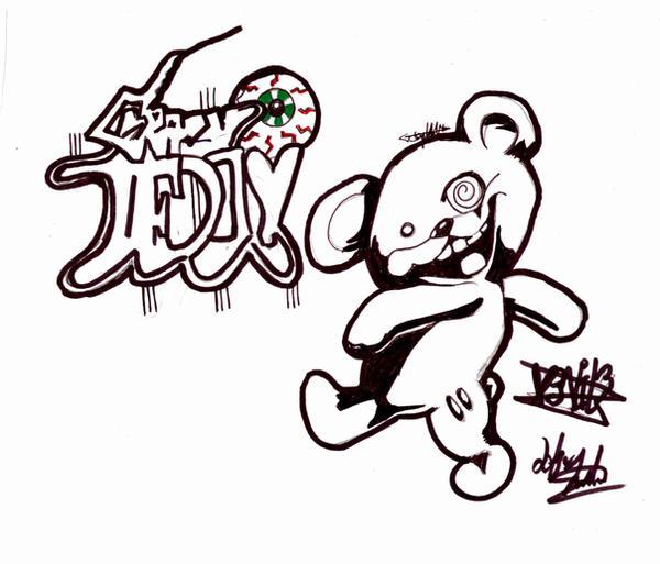 Teddy Graffiti by darkartsink on DeviantArt