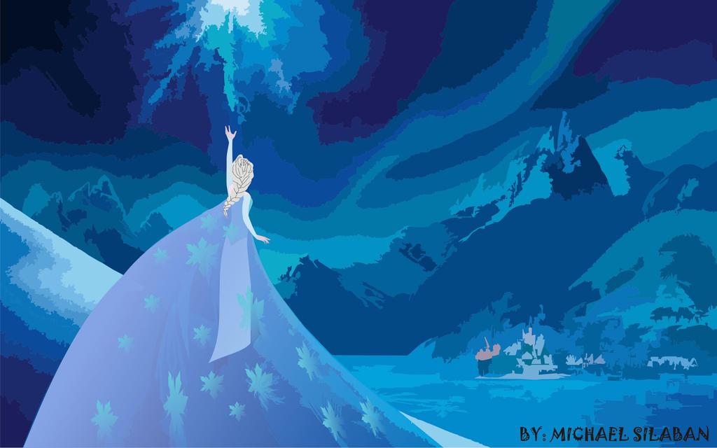 Queen Elsa Beautifull Power by ELSAtheCrystalMaiden