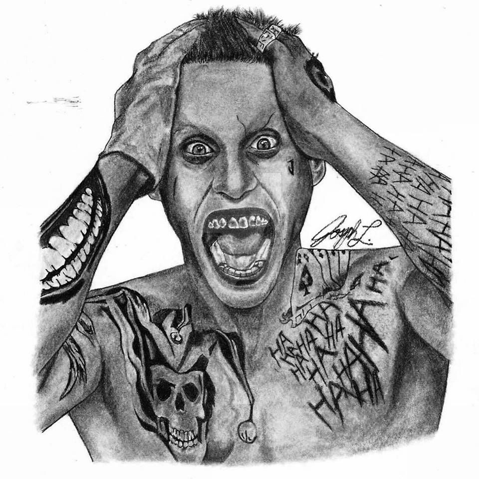 Drawing Of Jared Leto Joker From Suicide Squad By