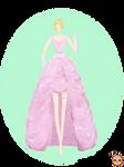 Pink Flower Dress Design