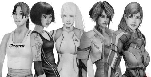Female protagonists by Sayamaru