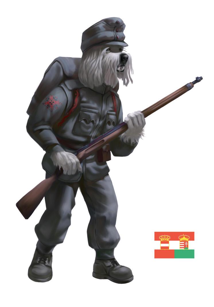 WW1 Doggos - Austria-Hungary Komondor by Rocklaw