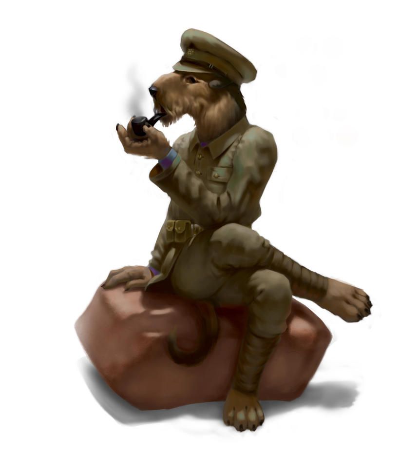 WW1 Doggos - Great Britain, Airedale Terrier by Rocklaw