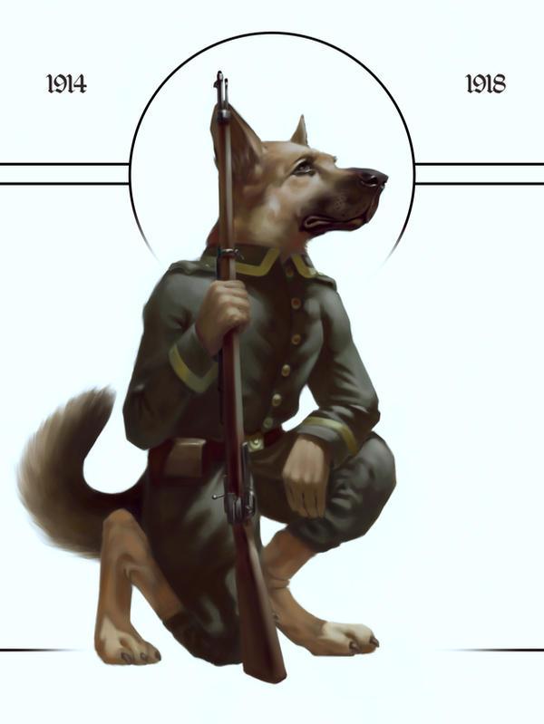 WW1 Doggos - German Shepherd by Rocklaw