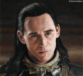 The Trial of Loki (colour pencils)