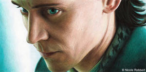 Loki - God of Mischief (colour pencils)