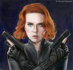 Black Widow - Avengers (colour pencils)