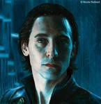 Loki in Jotunheim 3.0 (colour pencils)