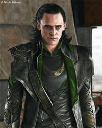 Loki - Rage (colour pencils) by Quelchii