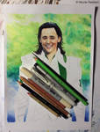 Loki (mixed media) WIP
