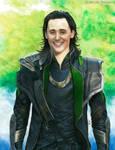 Loki (mixed media)