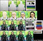 Loki (mixed media) step by step