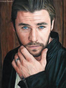 Chris Hemsworth (colour pencils)