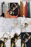 Loki sketch card step by step