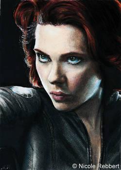 Black Widow sketch card