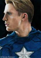 Captain America sketch card by Quelchii