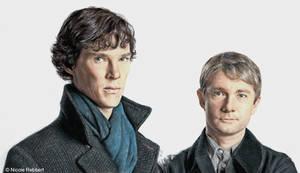 Sherlock Holmes and John Watson by Quelchii