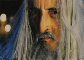Saruman sketch card by Quelchii