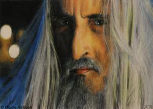 Saruman sketch card