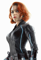 Black Widow (drawing) by Quelchii