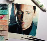 Tom Hiddleston (watercolor)