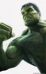 Hulk (drawing) by Quelchii