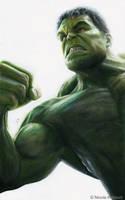 Hulk (drawing) by Quelchii