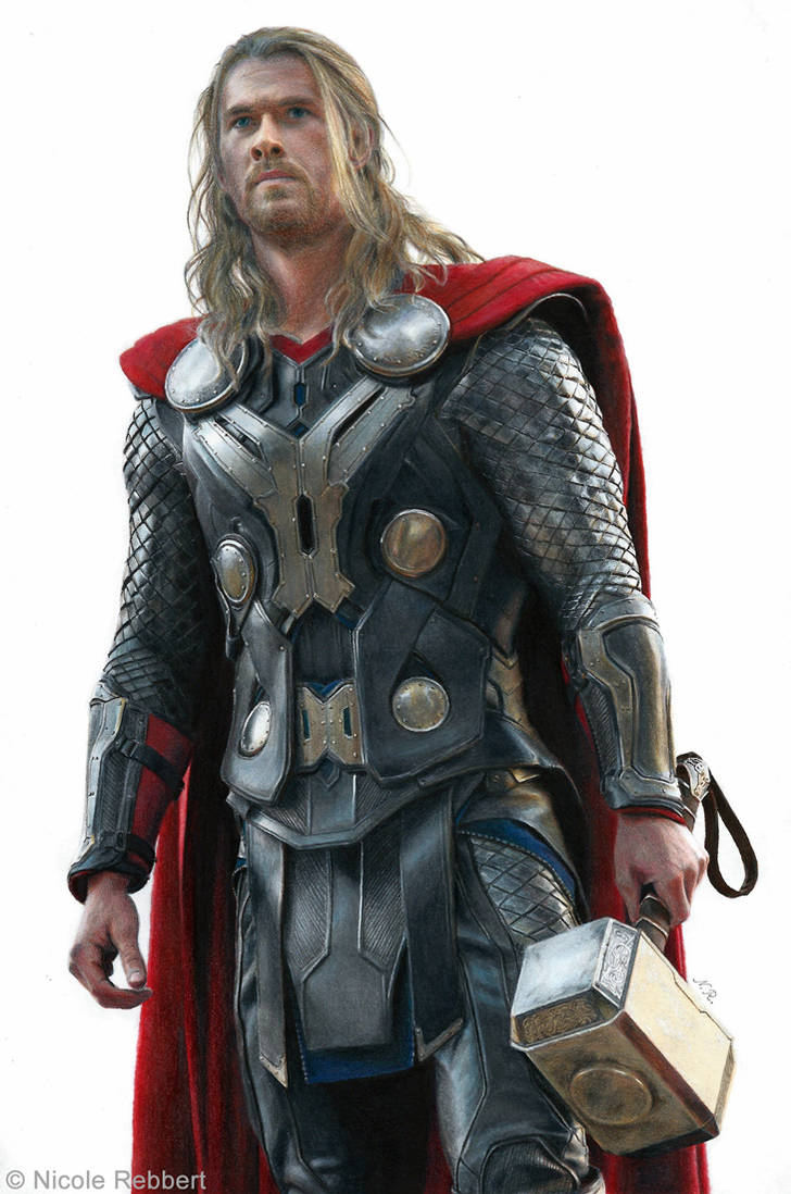 Thor (drawing) by Quelchii