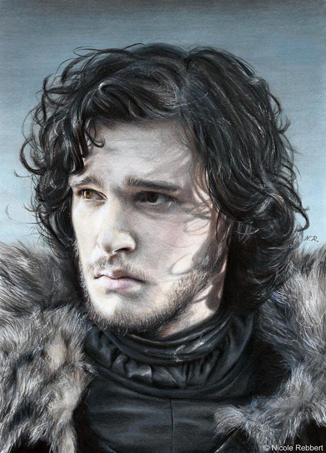 Jon Snow (drawing) by Quelchii