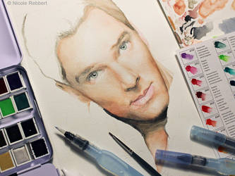 Benedict Cumberbatch WIP by Quelchii