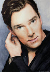 Benedict Cumberbatch (watercolor) by Quelchii