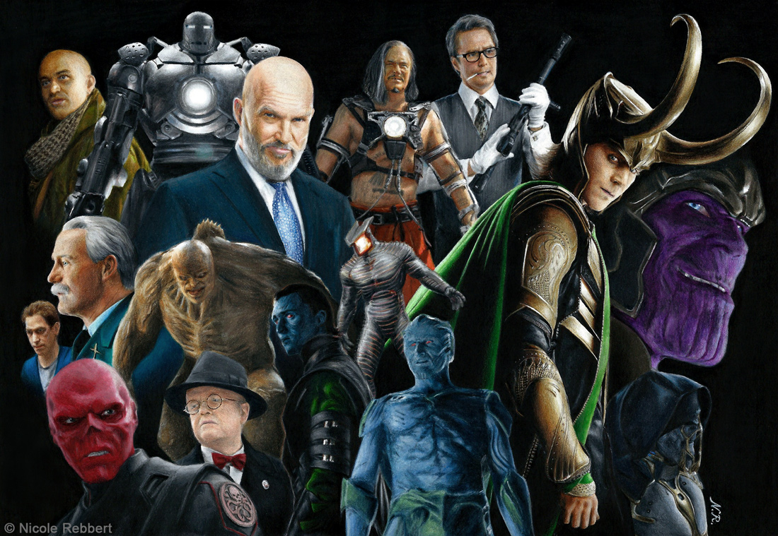 MCU Phase 1 villains (drawing)