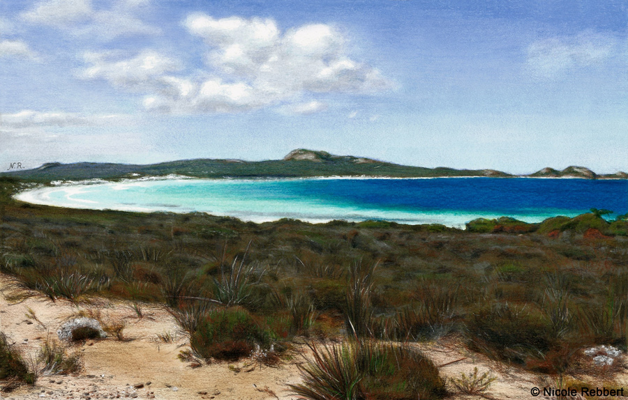 Lucky Bay (drawing) by Quelchii