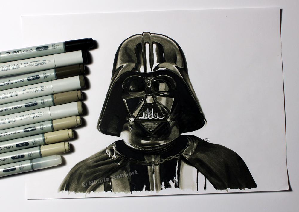 Darth Vader marker sketch by Quelchii on DeviantArt