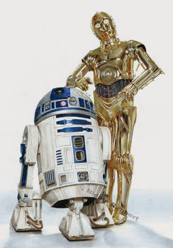R2D2 and C3PO (drawing)