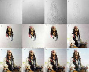 Jack Sparrow step by step