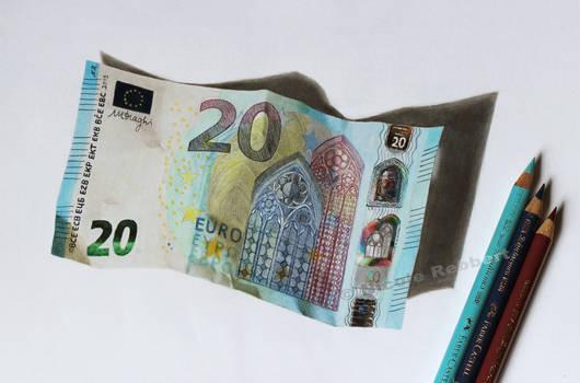 Euro banknote (drawing)