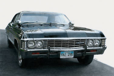 1967 Chevrolet Impala (drawing) by Quelchii
