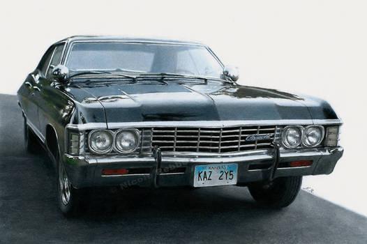 1967 Chevrolet Impala (drawing)