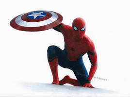 Spider-Man - Captain America Civil War (drawing) by Quelchii