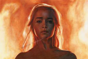Daenerys Targaryen - The Unburnt (drawing)