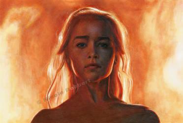 Daenerys Targaryen - The Unburnt (drawing) by Quelchii