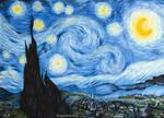 Van Gogh - Starry Night marker drawing