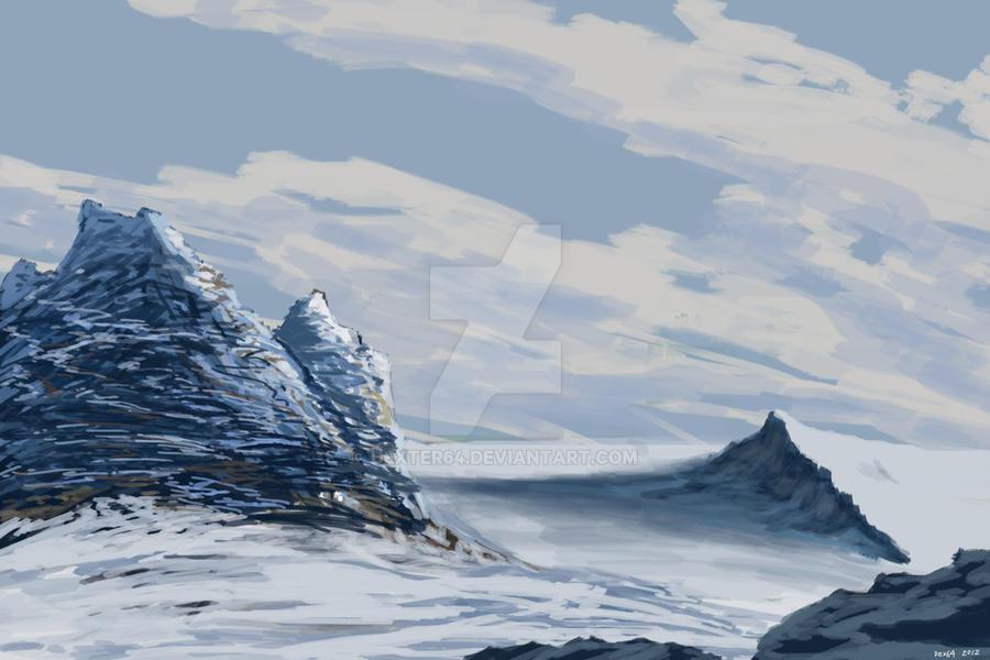Snowy terrain by dexter64