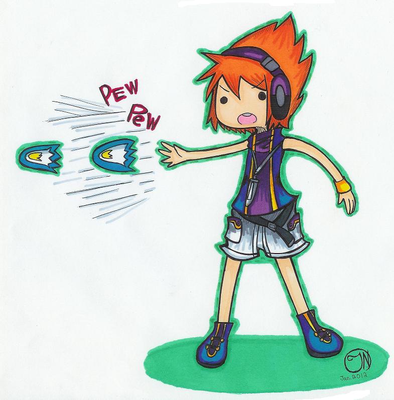TWEWY- Neku's Pew Pew Danmaku Adventure Time! by Imimi-Ai