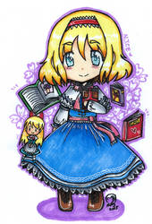 Touhou - Bookworm Puppeteer by Imimi-Ai